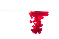 L'eau rouge d'encre Photo stock