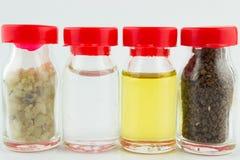 L'eau sainte de Jérusalem, encens franc, huile d'olive, saleté sainte Image stock