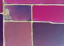 L'eau sale de couleur technique d'en haut Image libre de droits