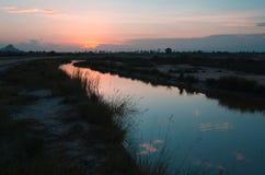 L'eau se reflétante de Sun Photos libres de droits