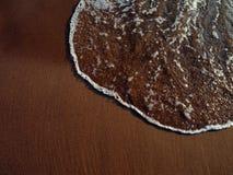 L'eau sur la plage Images libres de droits