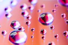 L'eau sur le miroir Photographie stock libre de droits