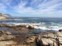 L'eau sur les roches Photo libre de droits