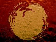 L'eau texturisée de peinture foncée d'or Photo stock