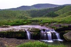L'eau tombe à Sohra/Cherra Punji, collines est de Khasi, Meghalaya Photo libre de droits