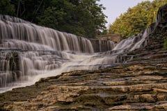 L'eau tombe dans Ithica NY Images libres de droits