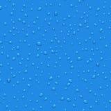 L'eau transparente laisse tomber le modèle sans couture de vecteur Images stock