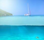 L'eau tropicale des Caraïbes Photos libres de droits