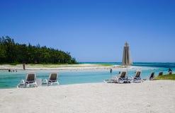 L'eau tropicale idyllique de mer et de turquoise Images libres de droits