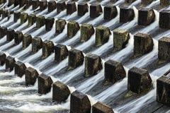 L'eau versant vers le bas Photographie stock