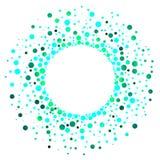 L'eau verte de explosion laisse tomber le cadre circulaire illustration stock