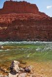 L'eau verte froide du Fleuve Colorado Images libres de droits