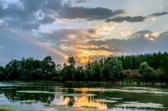 L'Ebro - la Navarra Fotografia Stock