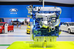 The 2.0L EcoBoost engine of Ford Stock Images