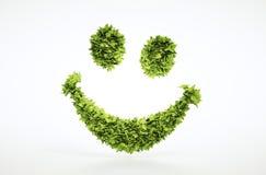 L'ecologia 3d rende il segno del fronte di sorriso Immagine Stock Libera da Diritti