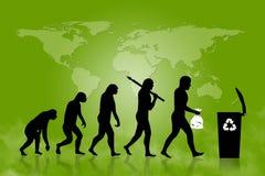 L'ecologia - ricicli l'evoluzione Fotografia Stock Libera da Diritti