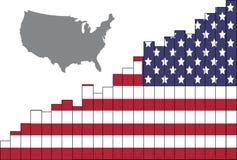 L'economia americana è in ascesa fotografia stock