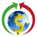L'economia globale si sviluppa Immagini Stock Libere da Diritti