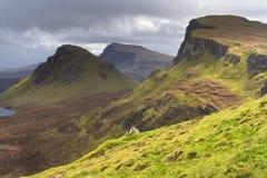 l'Ecosse-Le Quirang sur l'île de Skye Photo stock