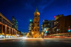 L'edificio di Gooderham alla notte, a Toronto, Ontario fotografie stock libere da diritti