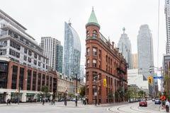 L'edificio di Gooderham a Toronto, Canada fotografie stock libere da diritti