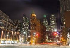 L'edificio di Gooderham a Toronto, Canada fotografia stock