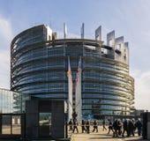 L'edificio di Louise Weiss, Parlamento Europeo, Strasburgo fotografie stock libere da diritti