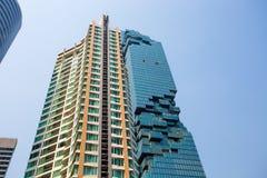 L'edificio di MahaNakhon a Bangkok, Tailandia, ora è la costruzione più alta in Tailandia 314 Mt Fotografia Stock