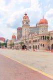 L'edificio di Sultan Abdul Samad è situato davanti al quadrato di Merdeka nel raja di Jalan, Kuala Lumpur, Malesia Fotografie Stock Libere da Diritti