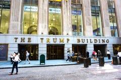 L'edificio di Trump Fotografia Stock Libera da Diritti