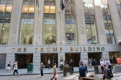 L'edificio di Trump Immagini Stock