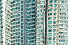 L'edificio residenziale di densità del hign a Hong Kong Fotografia Stock Libera da Diritti