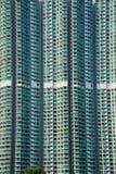 L'edificio residenziale di densità del hign a Hong Kong Fotografie Stock