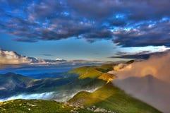 Efffect creux rare en montagnes de Rodnei images libres de droits
