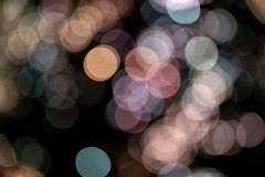 L'effet de fond a brouillé des couleurs en pastel de sphères de bokeh image libre de droits