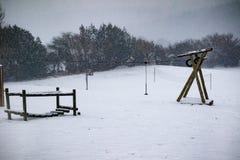 L'effet de la bête de la tempête est de neige d'hiver dans Drews images libres de droits