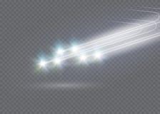 L'effet de la lumière d'étoile magique abstraite de lueur avec la tache floue au néon a courbé des lignes Images stock