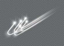 L'effet de la lumière d'étoile magique abstraite de lueur avec la tache floue au néon a courbé des lignes Photographie stock