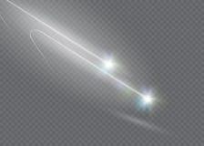 L'effet de la lumière d'étoile magique abstraite de lueur avec la tache floue au néon a courbé des lignes Image libre de droits