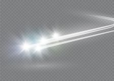 L'effet de la lumière d'étoile magique abstraite de lueur avec la tache floue au néon a courbé des lignes Traînée de scintillemen Photographie stock libre de droits