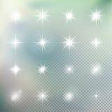 L'effet de la lumière tient le premier rôle des éclats ENV 10 Photo libre de droits