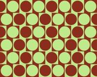 L'effet de mur de café d'illusion optique entoure rouge-foncé Images libres de droits