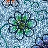 L'effetto di cristallo di arte di nozze del bordo della bella del fondo di struttura di struttura della riflessione gemma blu di  Immagini Stock Libere da Diritti