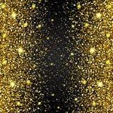 L'effetto di pilotare i ricchi di lusso di scintillio dell'oro delle parti progetta il fondo Immagine Stock