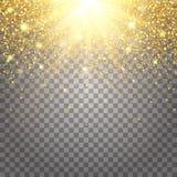 L'effetto di pilotare i ricchi di lusso di scintillio dell'oro delle parti progetta il fondo Fotografia Stock Libera da Diritti