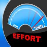 L'effort élevé représente l'huile de coude et l'effort illustration de vecteur