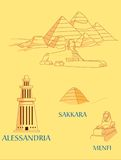 L'Egitto antico illustrazione vettoriale