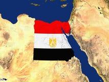 L'Egitto con la copertura della bandierina di paesi Immagine Stock Libera da Diritti