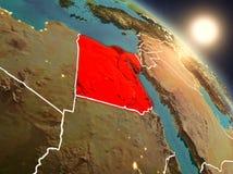 L'Egitto da spazio durante l'alba Fotografia Stock Libera da Diritti