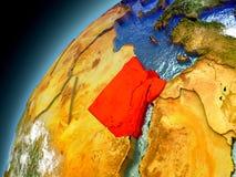 L'Egitto dall'orbita di Earth di modello Fotografie Stock Libere da Diritti